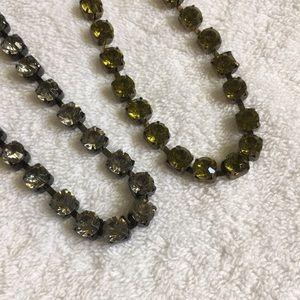 3 Necklaces, NWT, green, grey, peach Joe Fresh